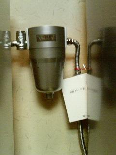 冷水器に設置した浄水器アップ