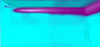 紫外線確認サンプルルーム、紫外線あり
