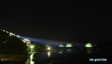 超狭角遠隔照明三ツ島ライトアップ