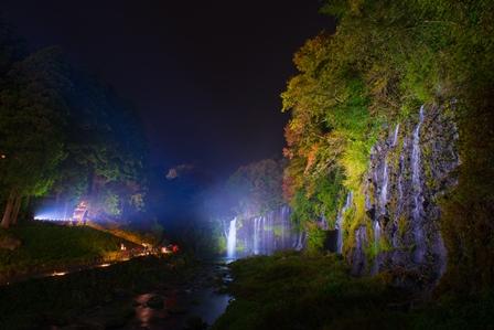 白糸の滝ライトアップ