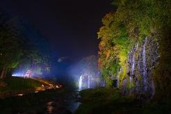 白糸ノ滝ライトアップ