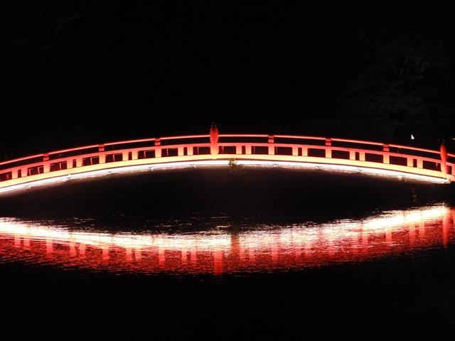 富士宮浅間大社ライトアップ神路橋