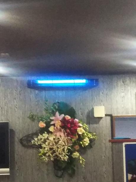 紫外線殺菌装置エアートゥウィン壁面取り付け