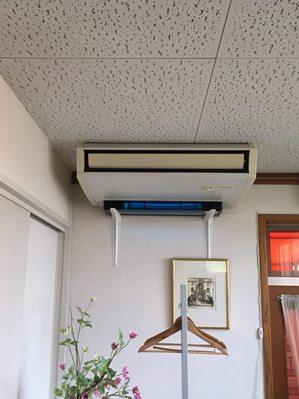 紫外線殺菌装置導入事例静岡トレーニングクリニック待合室